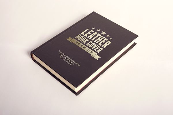 LEATHER BOOK COVER MOCK UP