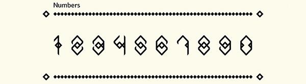 inguz font haris bekrakis experimental runes futhark Runic alphabet rhombus student project