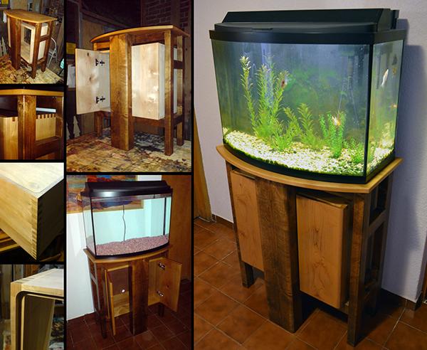Aquarium cabinet mueble para acuario on pantone canvas for Mueble para acuario