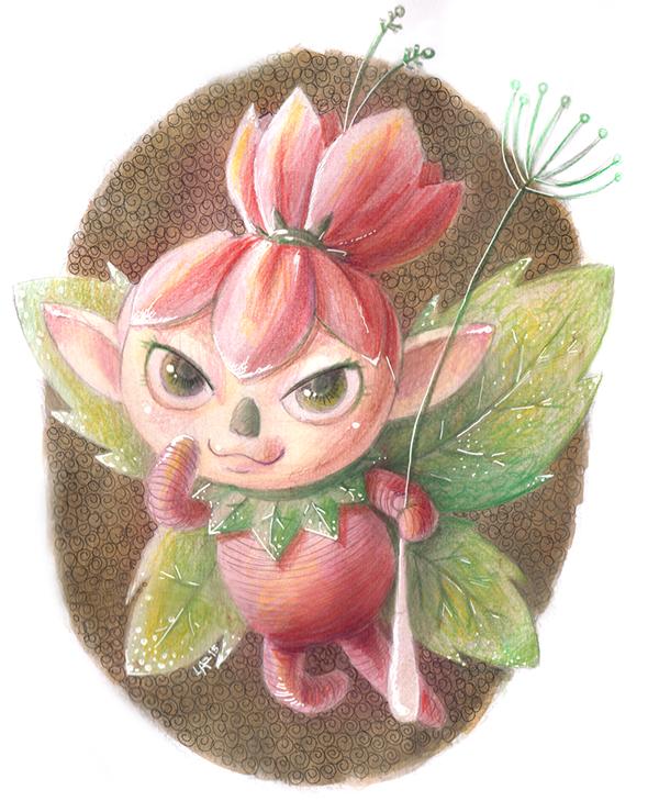 beet vegetables vegetal fairy Fairies fantasy children books watercolor color pencil handmade