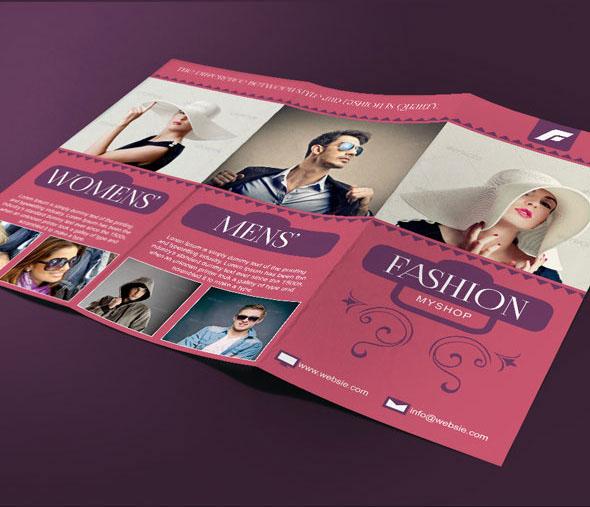Fashion tri fold brochure template on behance for Fashion brochure template