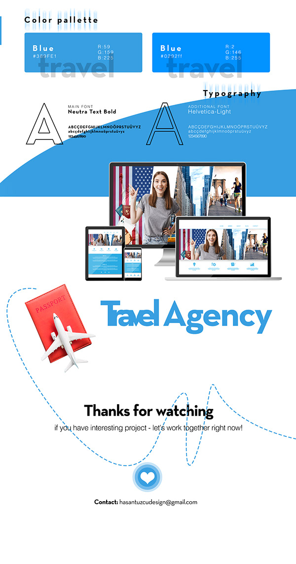 Travel Agency Web Banner Design