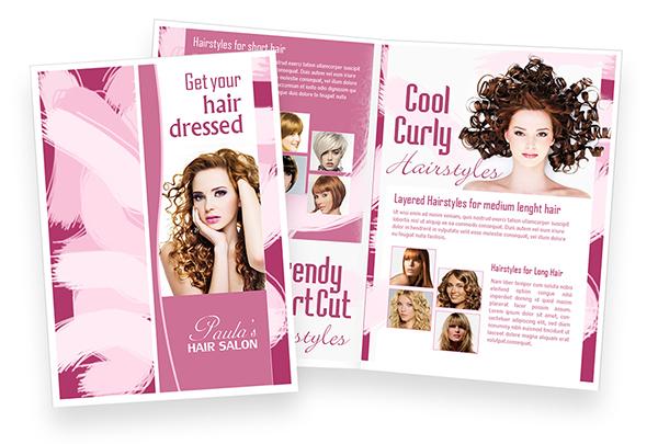 Paula S Hair Salon Brochure Design On Behance