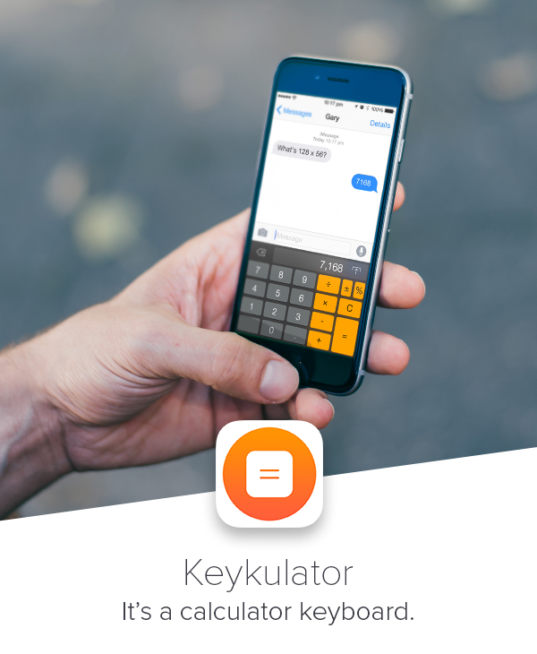 keyboard ios Custom calculator app