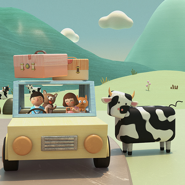 Road Trip - 3D Animation