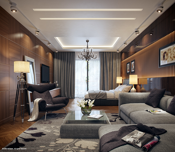 Dreamy Spaces Rendered By Muhammad Taher: Studio Apartments On Behance