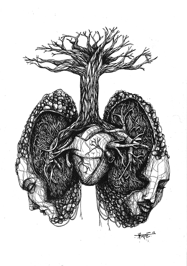 lungs on behance
