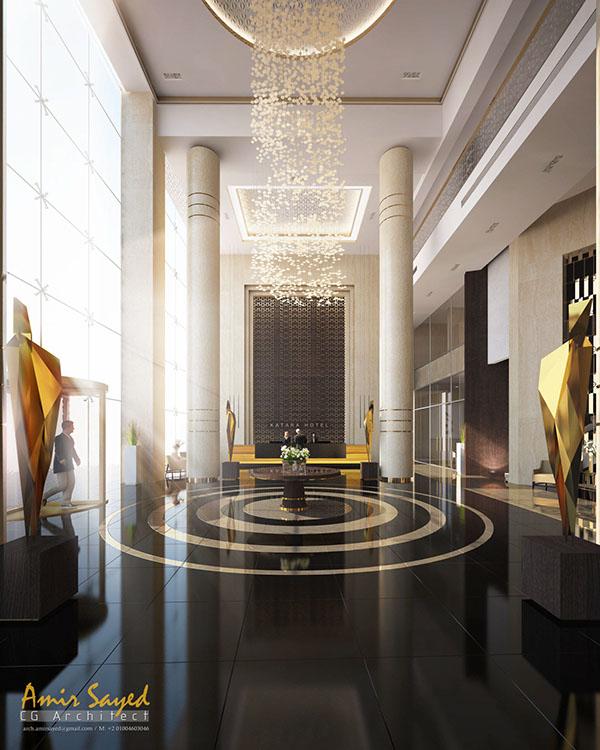 Katara hotel entrance on behance for Hotel entrance design
