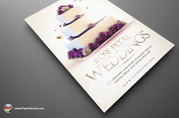 Wedding Flyer Template On Behance