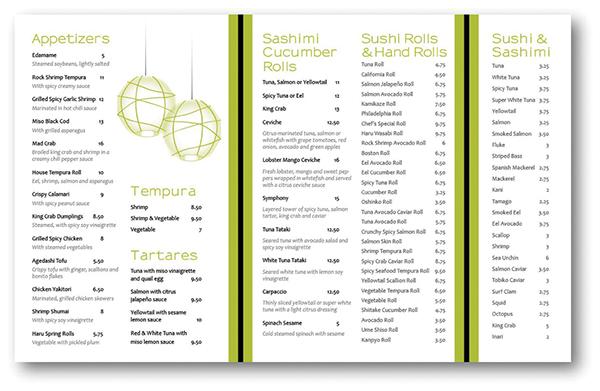 Spanish Menu Ideas Bar Menu Ideas Sushi Bar 400