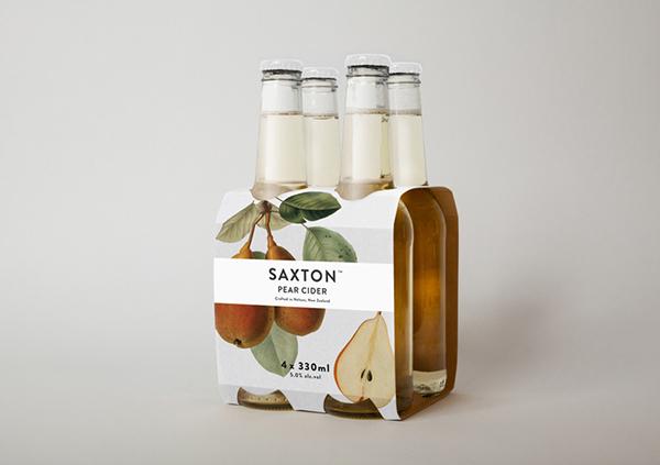Saxton Cider cider bottle Label
