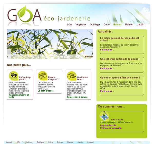 Goa co jardinerie on behance for Jardinerie internet