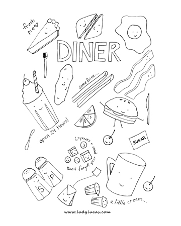 I love new york city food coloring book on behance for I love new york coloring page
