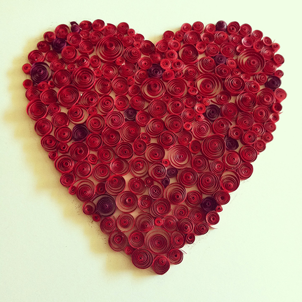 Paper quilled heart on behance for Quilling heart designs