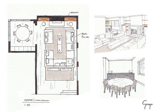 interior free hand sketches on behance