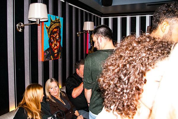 Beuys Bar,Vernissage Düsseldorf,phil splash,Colourful portraits,Greatest Musicians,kurt cobaine,amy winehouse,notorious big,Eva Schumann,Bob Marley,mozart,Rihanna