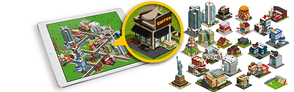 2D Isometric Game Asset - City Build set vol 1 on Behance