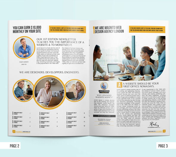 Indesign Newsletter Templates Free: Shocking Indesign Template On Behance