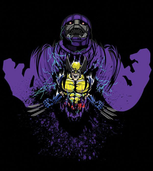 Marvel Character Design Behance : Marvel wolverine vs sentinel on behance