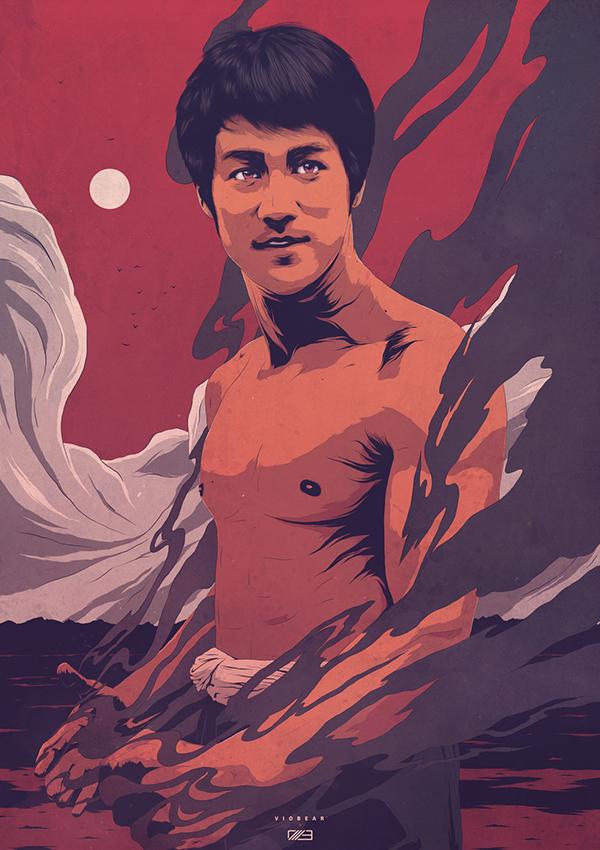 The Dragon, Bruce Lee by Conrado Salinas