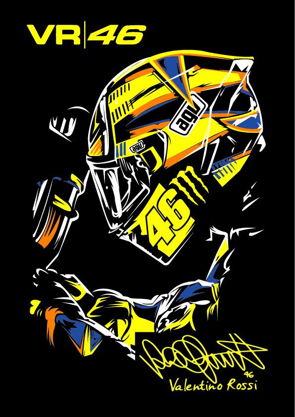 Valentino Rossi Logo Wallpaper