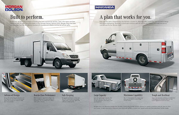 mercedes benz freightliner sprinter upfitter brochure on