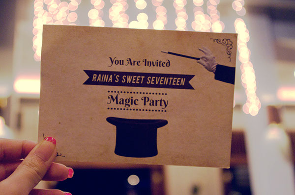 magic party invitation on behance
