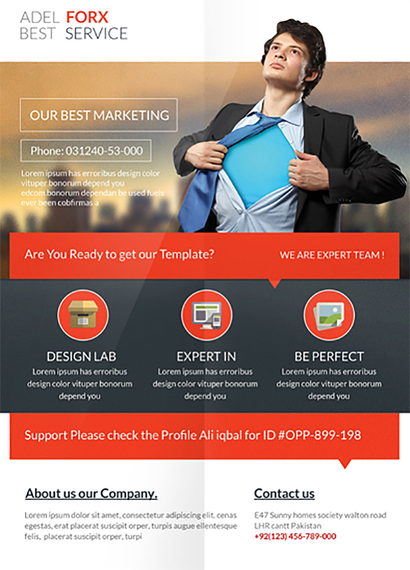 corporate marketing flyer template on behance