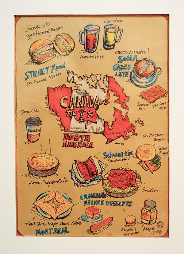 Mini World Map.Mini World Food Map North America On Behance