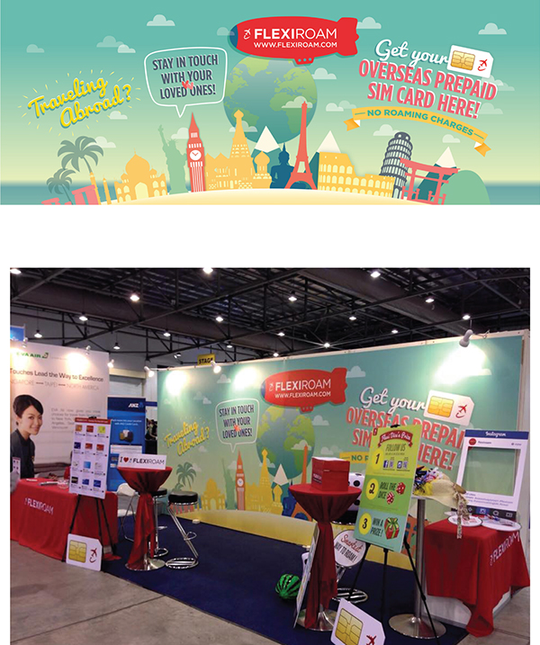 Tourism Exhibition Booth Design : Flexiroam s travel fair booth backdrop on wacom gallery