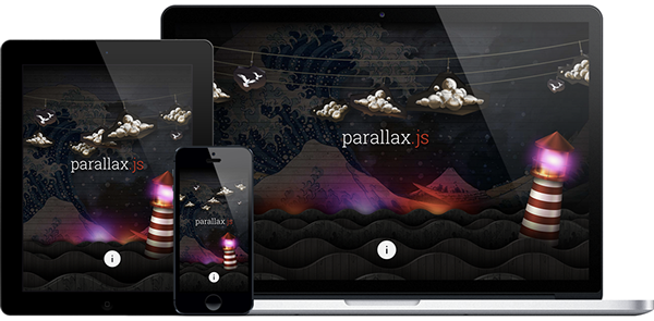 parallax JavaScript gyroscope
