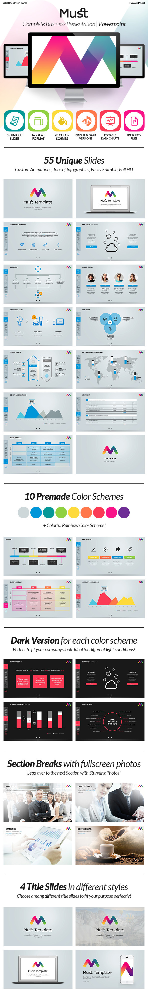 must powerpoint & keynote presentation template on behance, Presentation templates