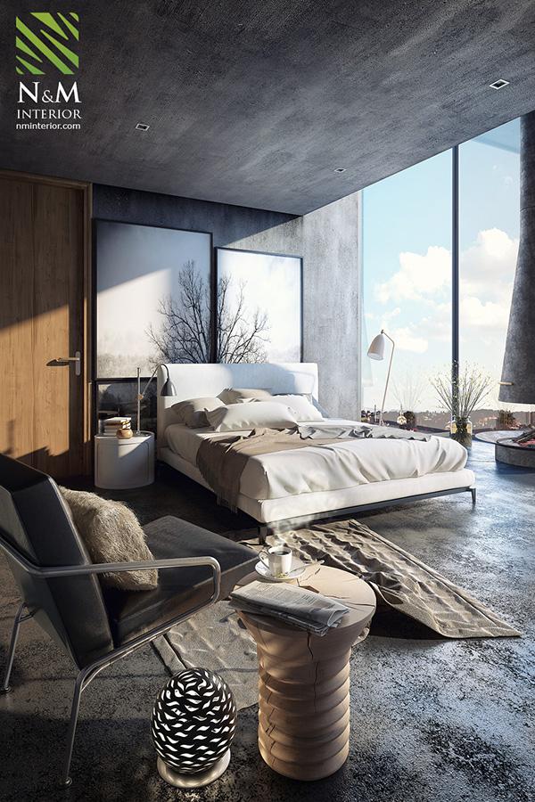 3d Interior Room Design: Bedroom Minotti On Behance