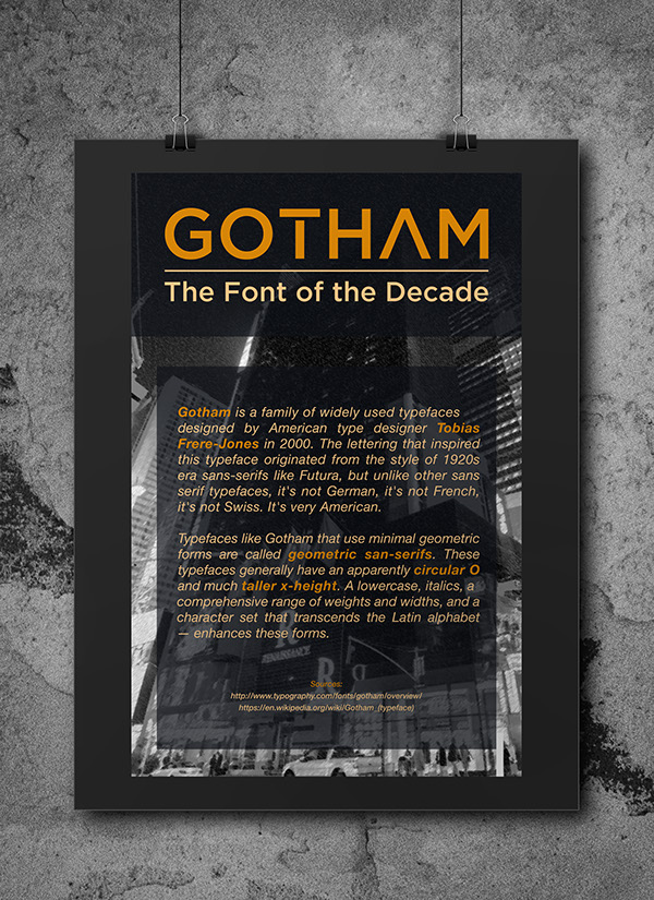 GOTHAM: The Font of the Decade on Pantone Canvas Gallery