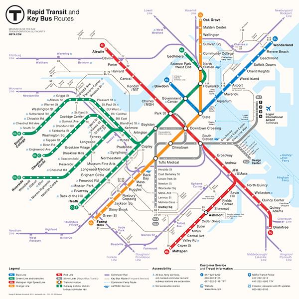 boston  rapid transit map diagram mbta scheme t map brt public transport subway metro rail bus infographics