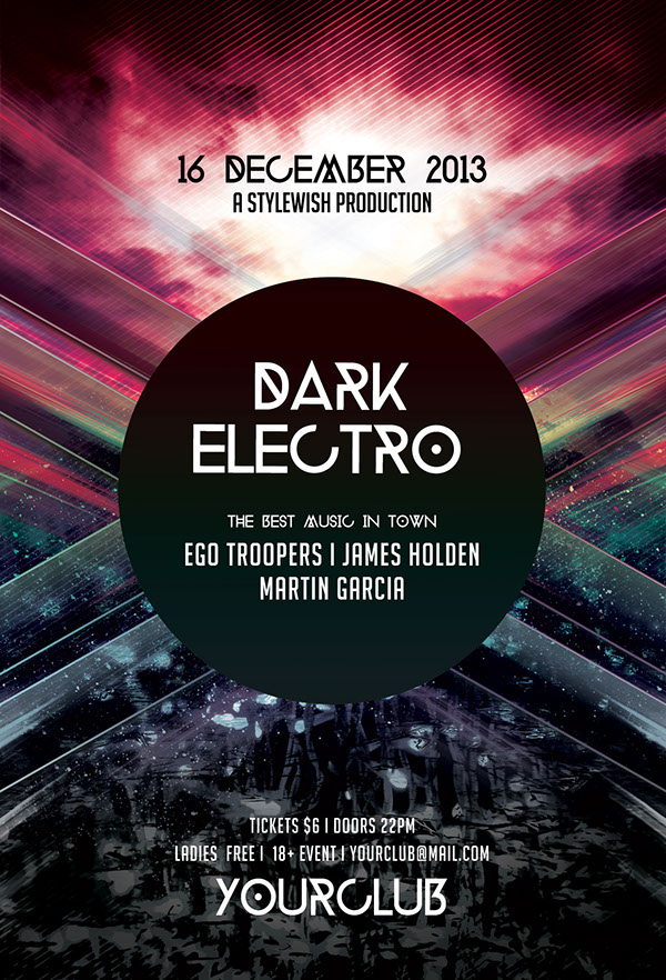 Dark Electro Flyer On Behance