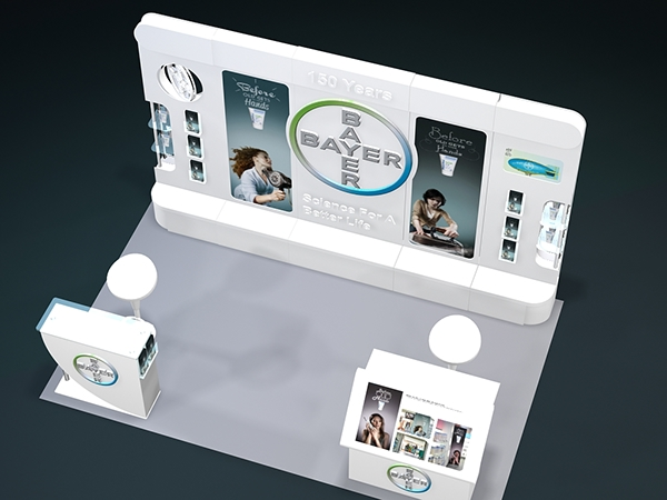 Modular Exhibition Stand Job : Bayer modular booth designed built on behance