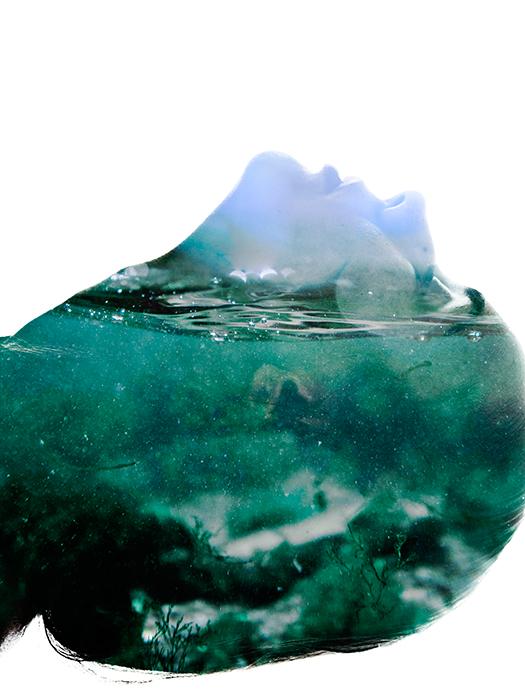 sea water double exposure portrait Ps25Under25