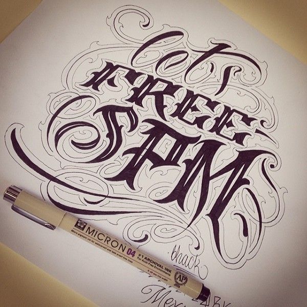 Handmade lettering 4 on behance for Pimp branding tattoos