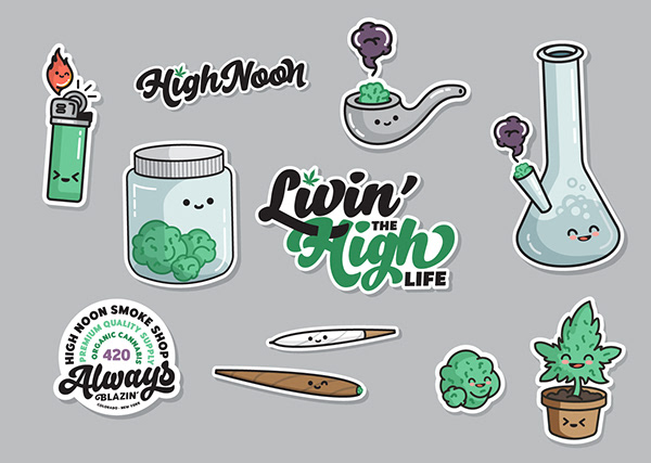 High Noon Smoke Shop Branding