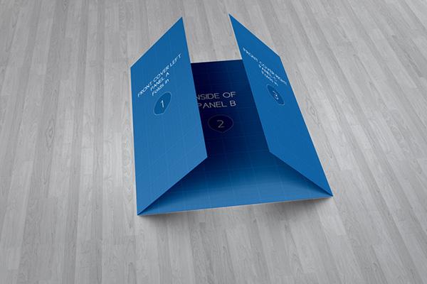 Gate Fold Brochure MockUp on Behance – Gate Fold Brochure Mockup