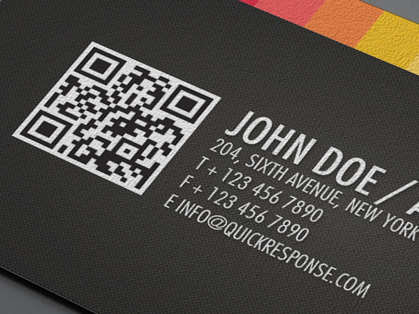a clean and high detailed textured background business card for your business surprised them with this card with integration of quick response code qr