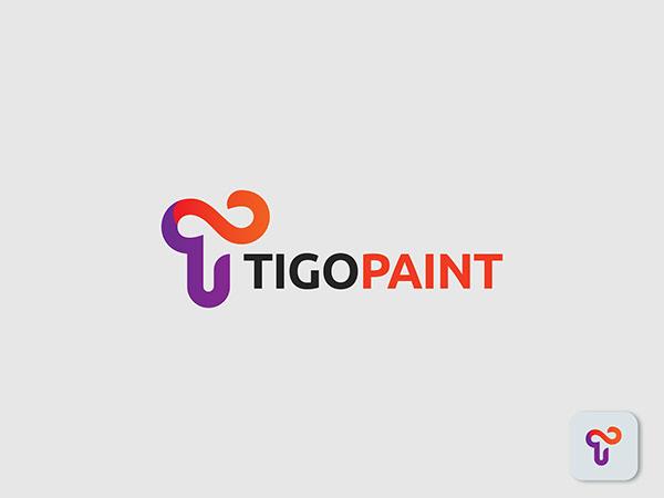 T letter Logo, Paint Logo, Design