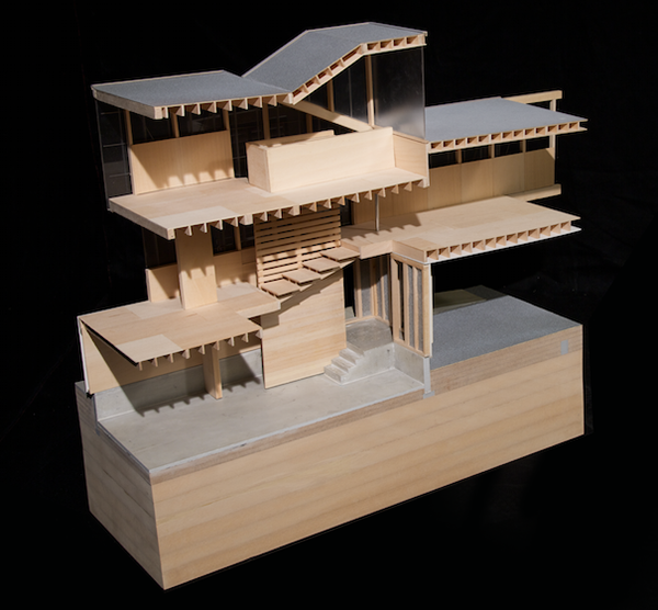 Work House Section Model On Behance