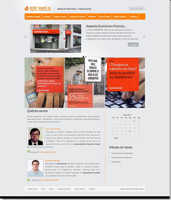 Bankinter agente consultoria traducciones CASTELLDEFELS wordpress Website web project