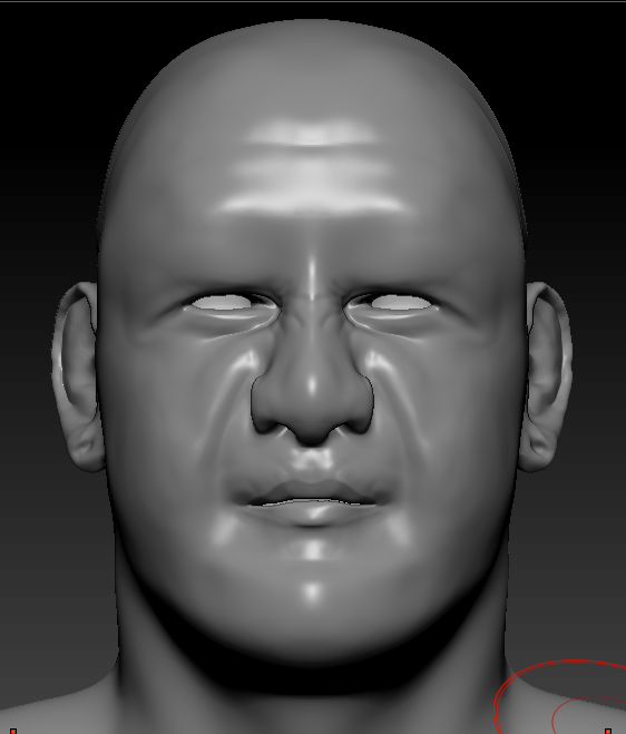 ZBrush Self Portrait Unfinished on Student Show