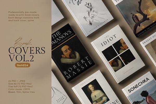 Creative Book Cover Design Templates (A5 and 6x9)