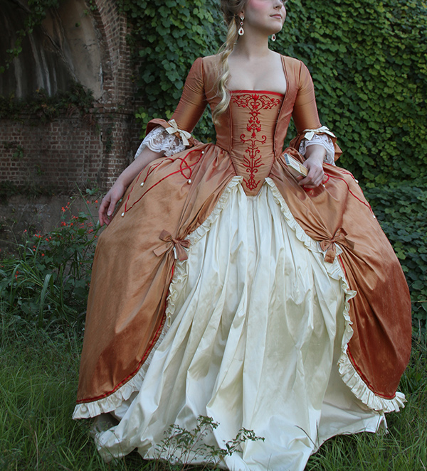 late 18th century french court gown on behance