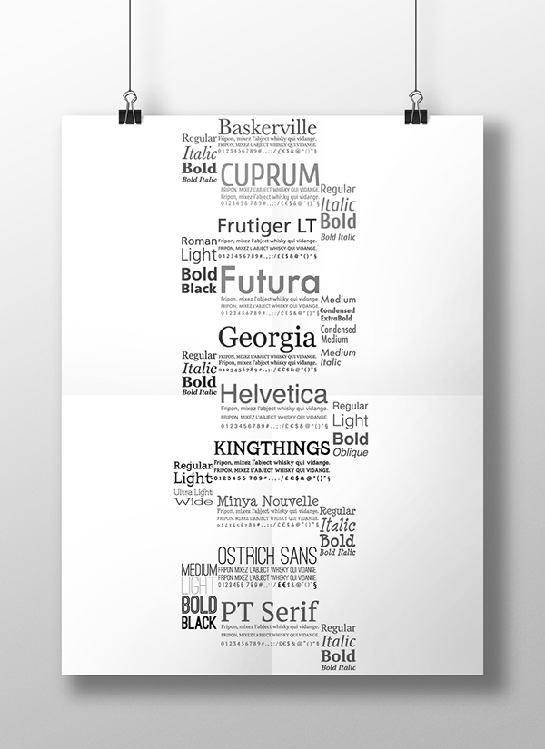 Font Poster on Pantone Canvas Gallery