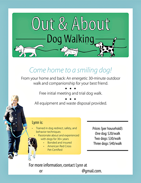 Out about dog walking promotional materials on behance brandinglogo for out about dog walking business created poster business card and logotheme for client march 2011 colourmoves